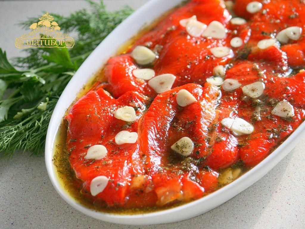 Болгарский перец в чесночном маринаде